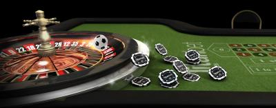 Roulette Tisch und Chips